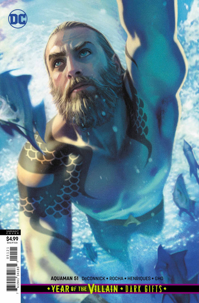 "Aquaman (2016 Series) #51 (Variant ""Year of the Villain"" Card Stock Cover - Joshua Middleton)"