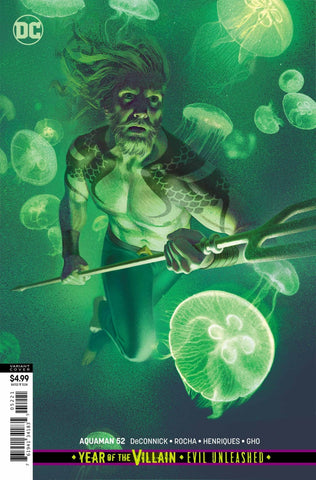 "Aquaman (2016 Series) #52 (Variant ""Year of the Villain"" Card Stock Cover - Joshua Middleton)"
