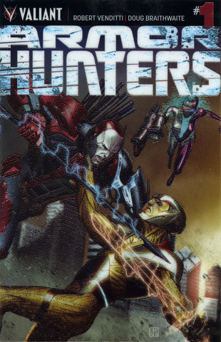 "Armor Hunters (2014 Mini-Series) #1 (Variant ""B"" Chrome Cover - Jorge Molina)"