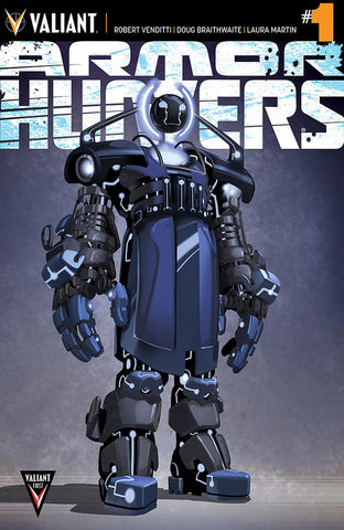 "Armor Hunters (2014 Mini-Series) #1 (Variant ""Character Design"" Cover - Clayton Crain)"