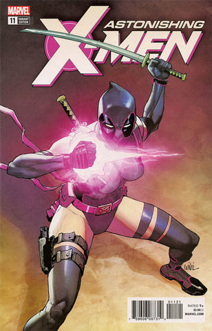"Astonishing X-Men (2017 Series) #11 (Variant ""Deadpool"" Cover - Leinil Francis Yu)"