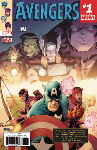 Avengers (2016 series) #1.1 (Variant 2nd Printing Cover - Barry Kitson)