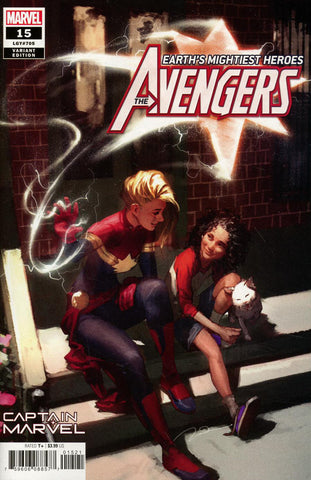 "Avengers (2018 Series) #15 (Variant ""Captain Marvel"" Cover - Gerald Parel)"