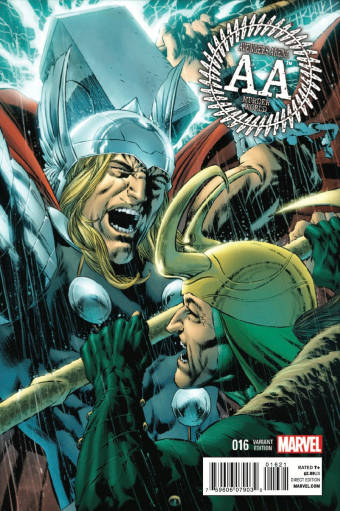 "Avengers Arena (2012 Series) #16 (Variant Incentive ""Thor Battle"" Cover - Mike Perkins)"