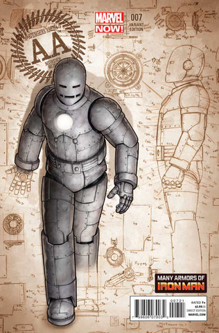 "Avengers Arena (2012 Series) #7 (Variant Incentive ""Many Armors of Iron Man"" Cover - John Tyler Christopher)"