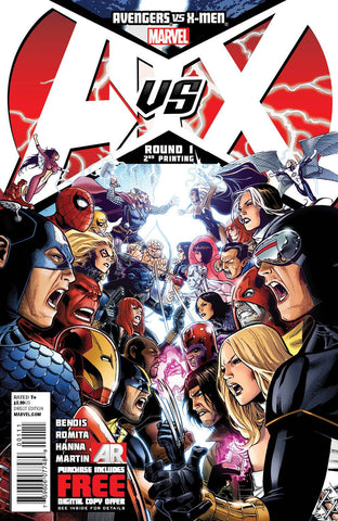 Avengers vs. X-Men (2012 Mini-Series) #1 (Variant 2nd Printing Cover - Jim Cheung)