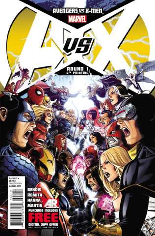 Avengers vs. X-Men (2012 Mini-Series) #1 (Variant 4th Printing Cover - Jim Cheung)