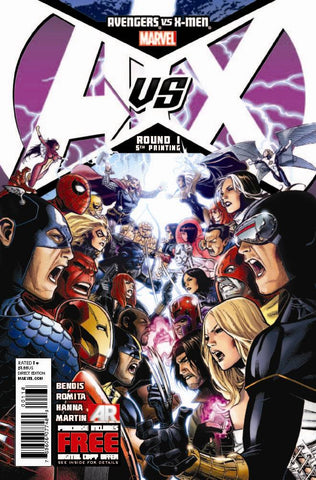 Avengers vs. X-Men (2012 Mini-Series) #1 (Variant 5th Printing Cover - Jim Cheung)
