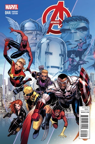 "Avengers (2012 Series) #44 (Variant Connecting ""End of an Era"" Cover - Jim Cheung)"