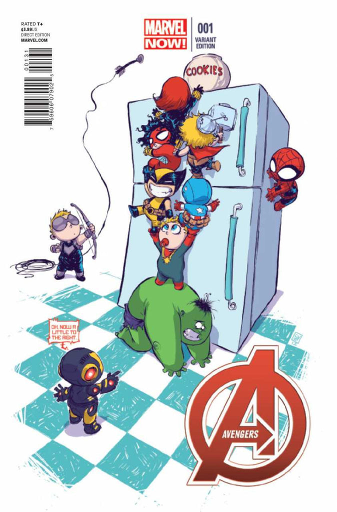 "Avengers (2012 Series) #1 (Variant ""Baby"" Cover - Skottie Young)"