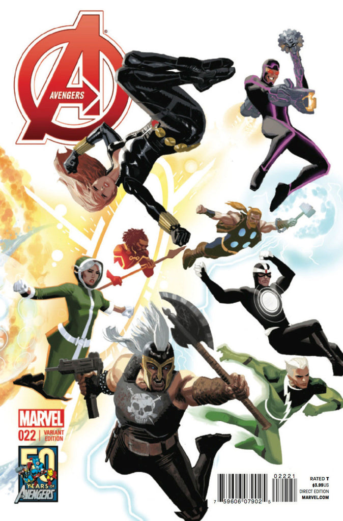 "Avengers (2012 Series) #22 (Variant ""50 Years of Avengers"" Cover - Daniel Acuña)"