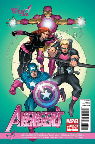 "Avengers (2010 Series) #31 (Variant ""Susan G. Komen for the Cure"" Cover - Pasqual Ferry)"