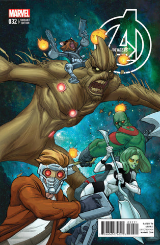 "Avengers (2012 Series) #32 (Variant Incentive ""Guardians of the Galaxy"" Cover - Pascual Ferry)"