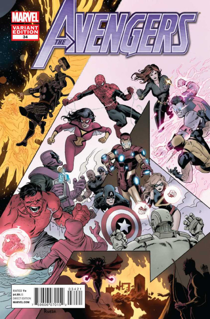 "Avengers (2010 Series) #34 (Variant ""Final Issue"" Cover - Paolo Rivera)"