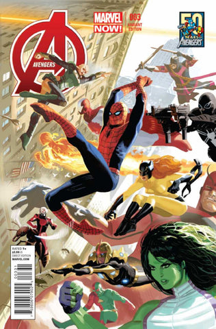 "Avengers (2012 Series) #3 (Variant ""50 Years of Avengers"" Cover - Daniel Acuña)"