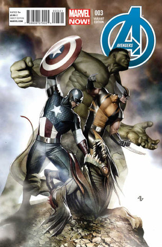Avengers (2012 Series) #3 (Variant Incentive Cover - Adi Granov)