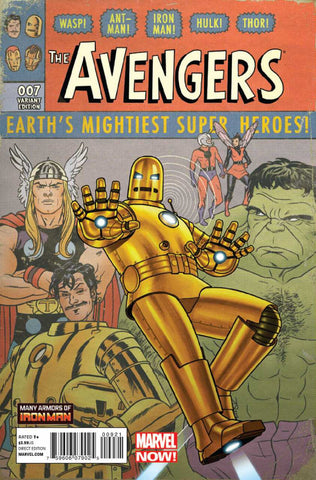 "Avengers (2012 Series) #9 (Variant Incentive ""Many Armors of Iron Man"" Cover - Joe Quinnones)"