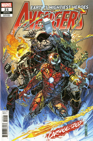 "Avengers (2018 Series) #21 (Variant ""Carnage-ized"" Cover - Jim Cheung)"