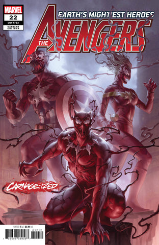 "Avengers (2018 Series) #22 (Variant ""Carnage-ized"" Cover - Jim Cheung)"