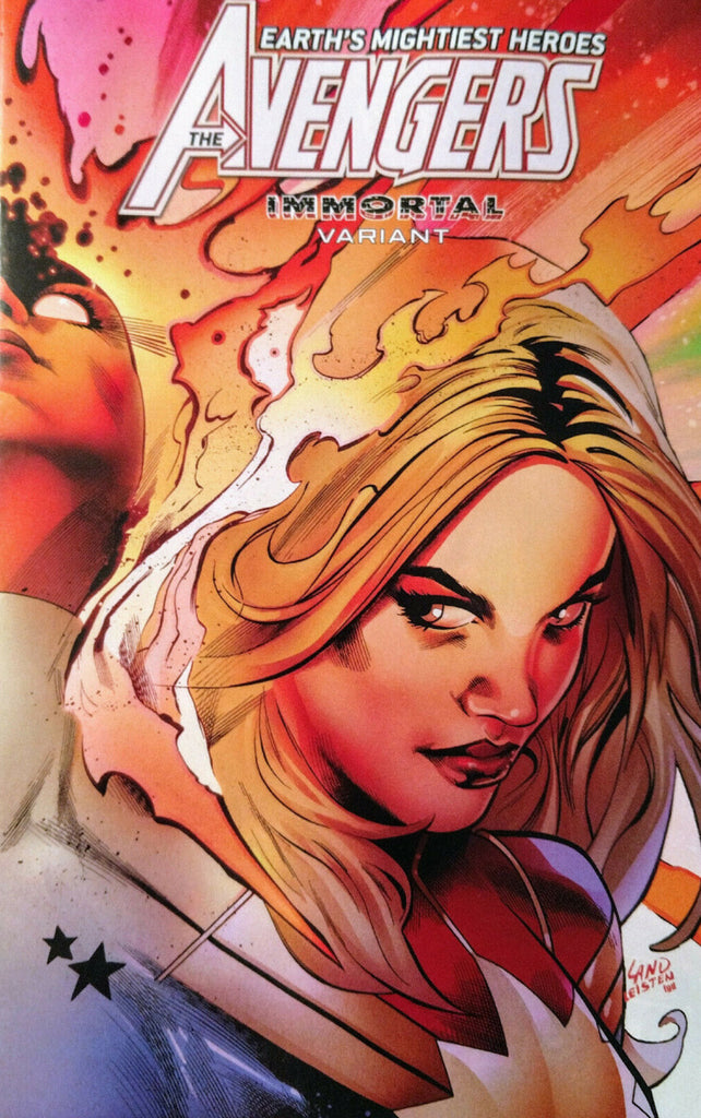 "Avengers (2018 Series) #24 (Variant ""Immortal"" Wraparound Captain Marvel Cover - Greg Land)"