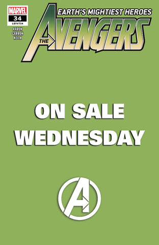 "Avengers (2018 Series) #34 (Variant ""Marvel Wednesday"" Cover - Green)"