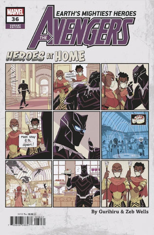 "Avengers (2018 Series) #36 (Variant ""Heroes at Home"" Cover - Gurihiru)"