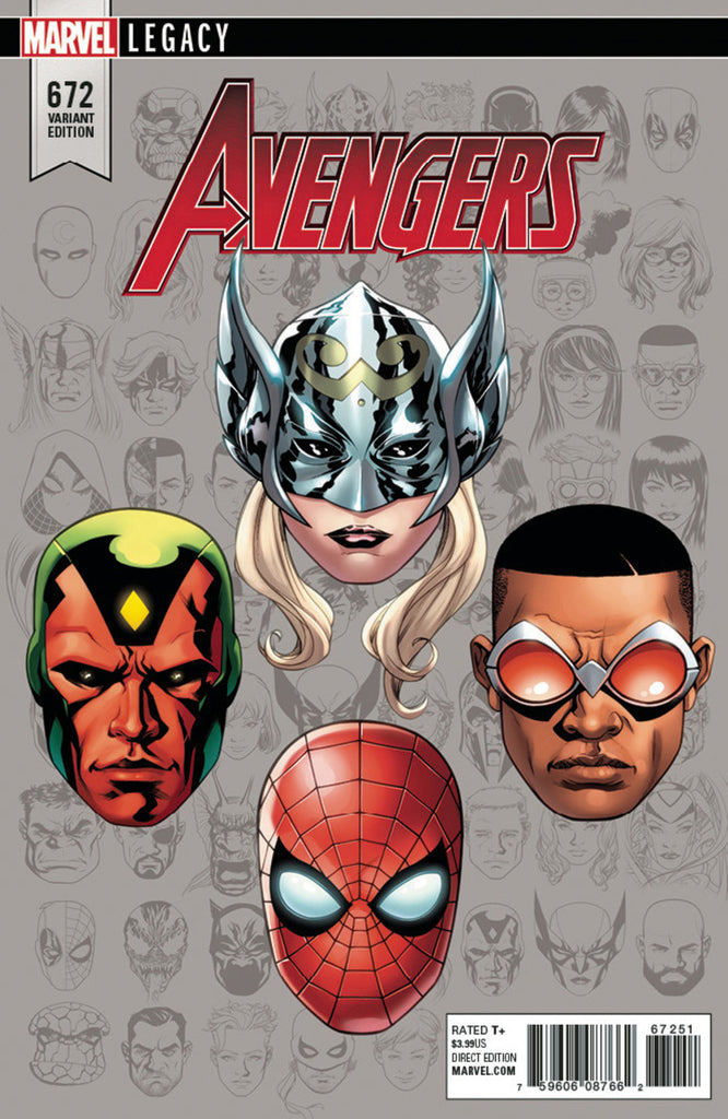 "Avengers (2016 Series) #672 (Variant Incentive ""Legacy Headshot"" Cover - Mike McKone)"