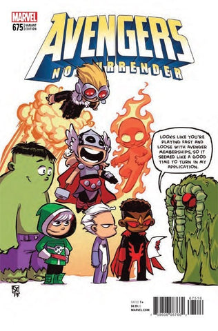 "Avengers (2016 Series) #675 (Variant ""Baby"" Cover - Skottie Young)"