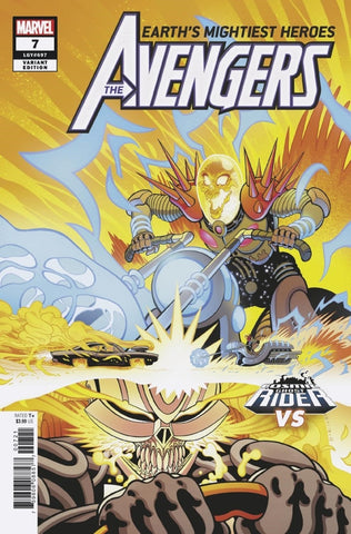 "Avengers (2018 Series) #7 (Variant ""Cosmic Ghost Rider VS."" Cover - Paco Medina)"