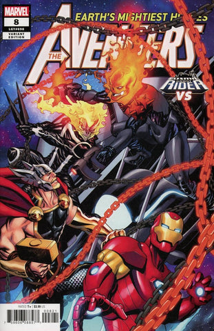 "Avengers (2018 Series) #8 (Variant ""Cosmic Ghost Rider VS."" Cover - Mike McKone)"
