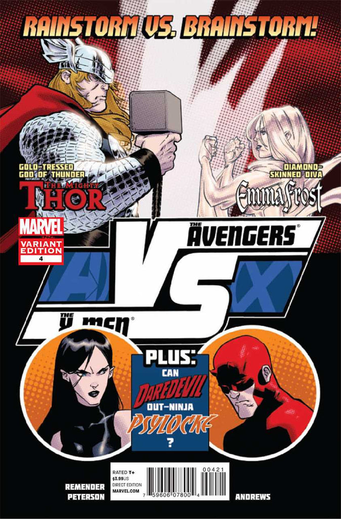 "AvX: Versus (2012 Mini-Series) #4 (Variant ""Fight Poster"" Cover - Brandon Peterson)"