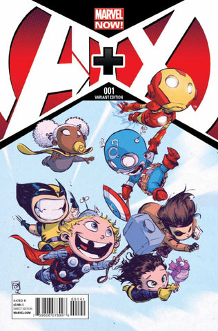 "A+X (2012 Series) #1 (Variant ""Baby"" Cover - Skottie Young)"