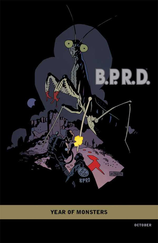 "B.P.R.D. 1948 (2012 Mini-Series) #1 (of 5) (Variant Incentive ""Year of Monsters"" Cover - Mike Mignola)"
