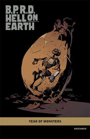 "B.P.R.D. Hell on Earth: Return of the Master (2011 Mini-Series) #4 (Variant Incentive ""Year of Monsters"" Cover - Mike Mignola)"