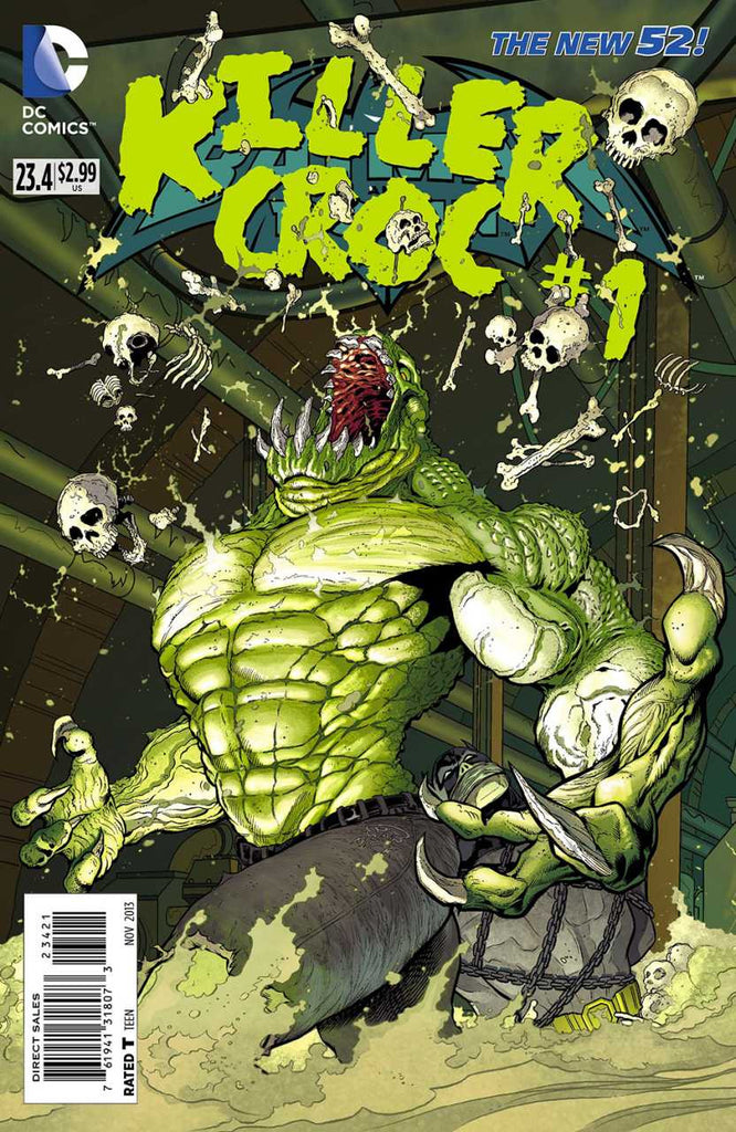 Batman and Robin (2011 Series) #23.4 Killer Croc (Regular Cover - Patrick Gleason)