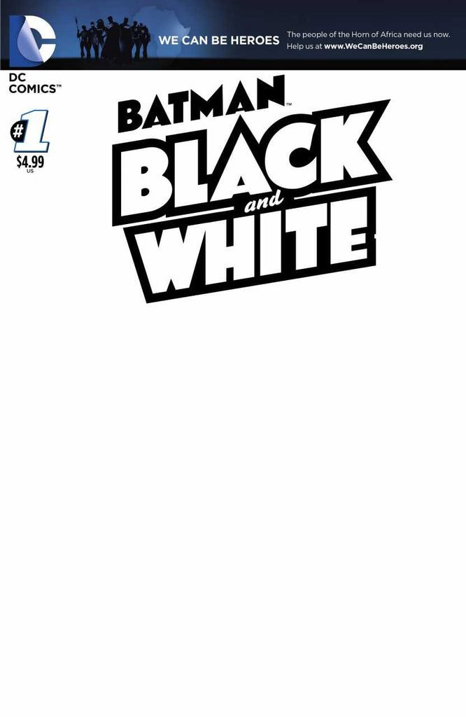 Batman: Black and White (2013 Mini-Series) #1 of 6 (Blank Variant Cover)