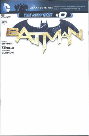 "Batman (2011 Series) #0 (Variant ""We Can Be Heroes"" Cover - Blank)"