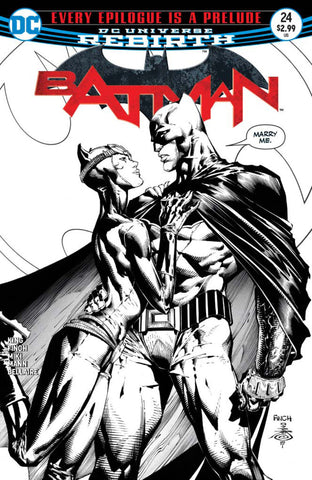 Batman (2016 Series) #24 (Variant 3rd Printing B&W Cover - David Finch)
