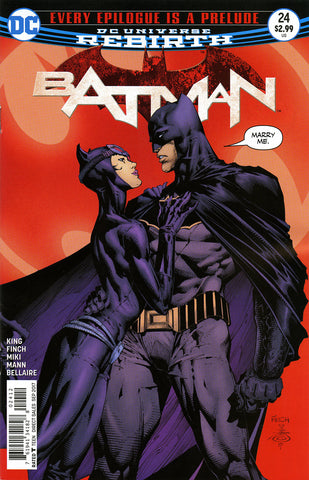 Batman (2016 Series) #24 (Variant 2nd Printing Cover - David Finch)