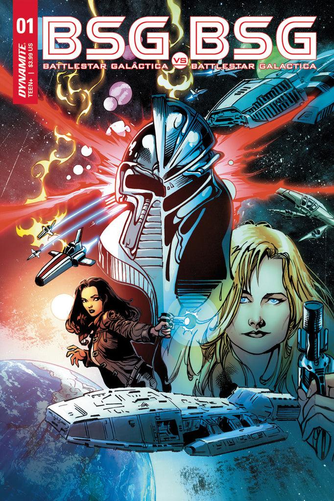 "Battlestar Galactica: BSG vs. BSG (2017 mini-series) #1 (of 6) (Variant ""H"" Cylon Front Split Cover - Roberto Castro)"