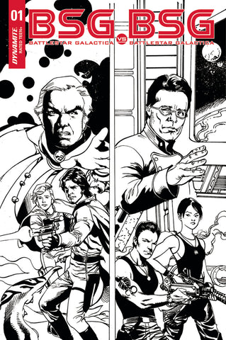 "Battlestar Galactica: BSG vs. BSG (2017 mini-series) #1 (of 6) (Variant ""J"" Incentive B&W Cover - Roberto Castro)"