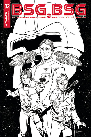 "Battlestar Galactica: BSG vs. BSG (2017 mini-series) #1 (of 6) (Variant ""E"" Incentive B&W Cover - Aaron Lopresti)"