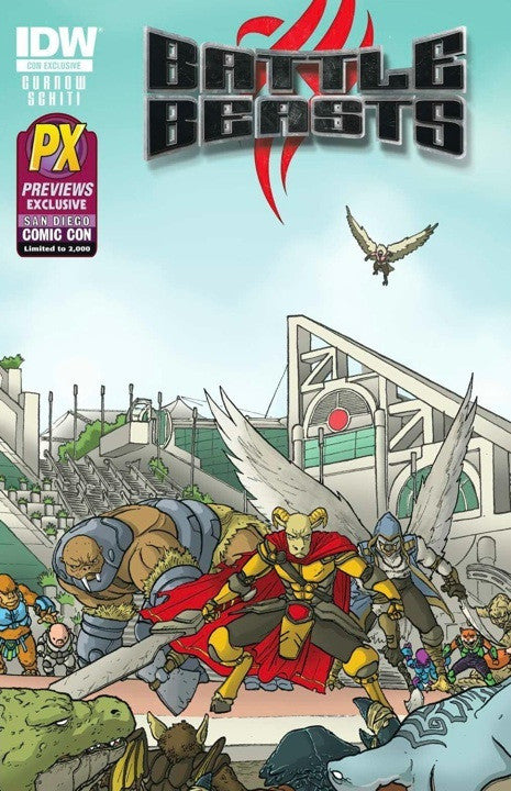 Battle Beasts (2012 Series) #1 (Variant SDCC 2012 Cover - Ulises Farinas)