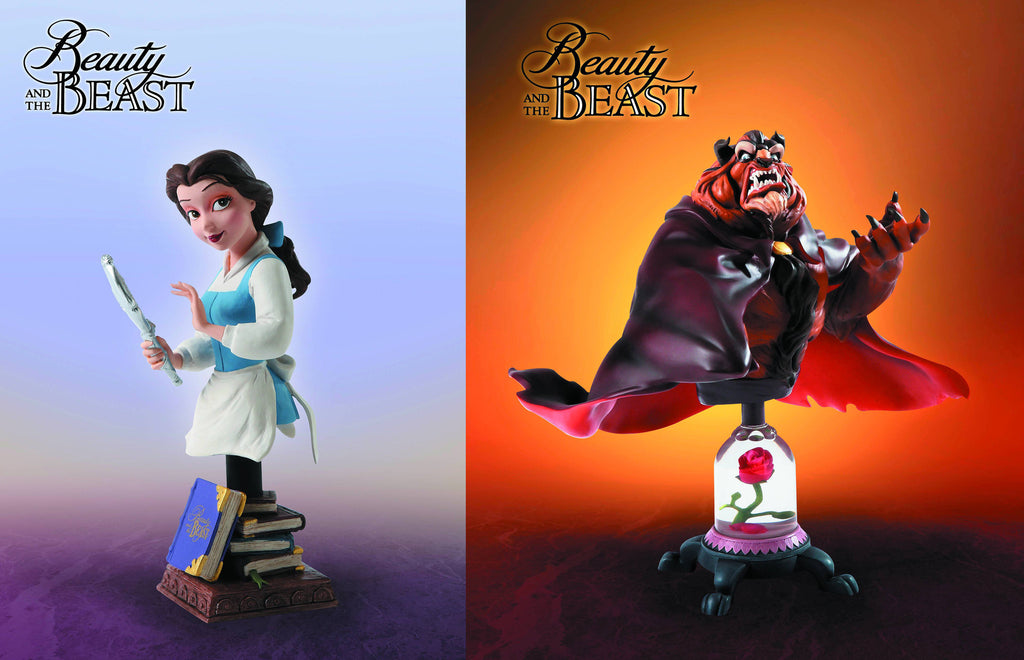 Walt Disney Showcase Collection – Beauty and the Beast Bust Set