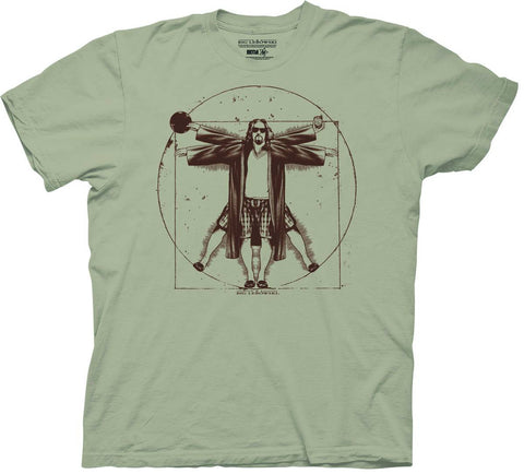 Big Lebowski (Film) – The Vetruvian Lebowski – Adult Men's T-Shirt (XXL)