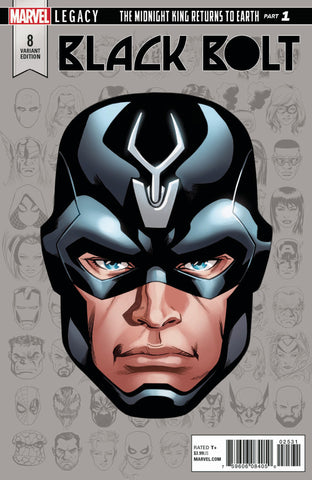 "Black Bolt (2017 Series) #8 (Variant Incentive ""Legacy Headshot"" Cover - Mike McKone)"