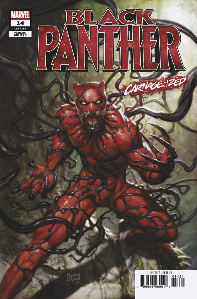 "Black Panther (2018 series) #14 (Variant ""Carnage-ized"" Cover - Ryan Brown)"