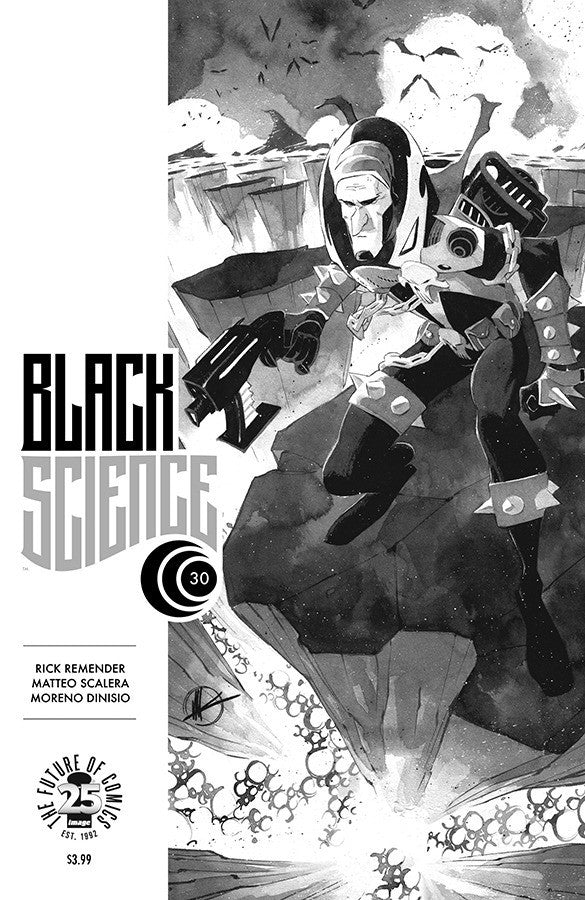 "Black Science (2013 Series) #30 (Variant ""C"" Spawn B&W Cover - Matteo Scalera)"