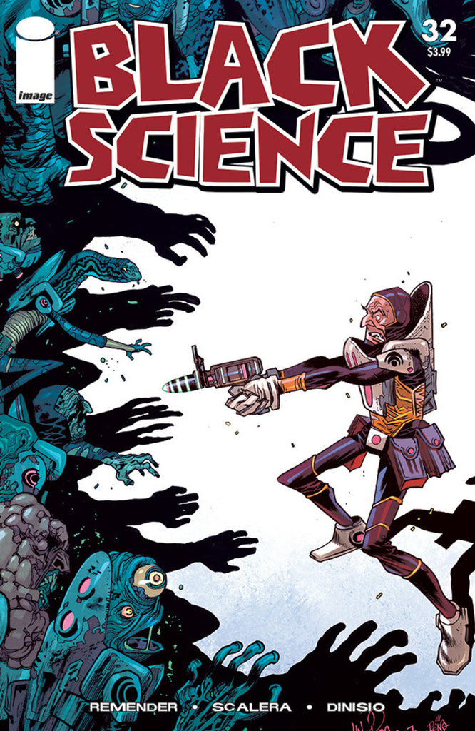 "Black Science (2013 Series) #32 (Variant ""C"" Walking Dead Tribute Cover - Mike Hawthorne)"