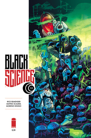 "Black Science (2013 series) #35-38 [SET] — Volume 08: Later Than You Think (All Variant ""B"" Covers)"